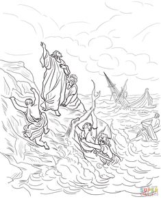 Achan Sinned: Joshua 7; Coloring Page: (Joshua praying