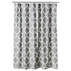 Threshold™ Pintuck Shower Curtain Gray Also Comes In White