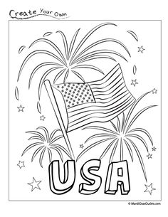 God bless america, Coloring sheets and Coloring on Pinterest