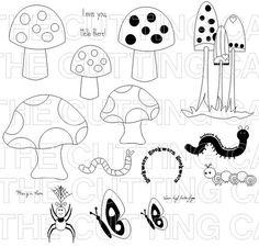 Printable Mushroom Template from PrintableTreats.com