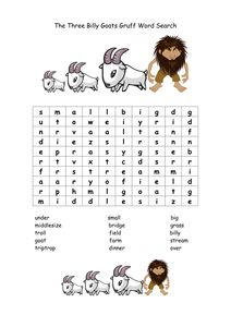 The Three Billy Goats Gruff: Lesson Plan & Worksheet