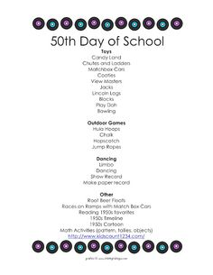 1000+ images about 50-100 Days of School! on Pinterest