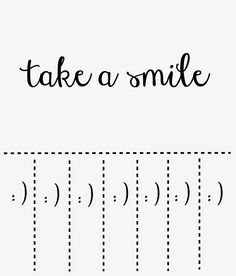 """Take a Smile"" Post-It Note Template Printout #postit"