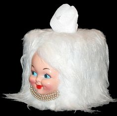 vintage miss tissue head vintage doll tissue box cover vintage dolls tissue boxes and dolls