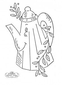 Smiling Kitchen Hand Embroidery Transfer Patterns
