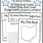This packet includes 50 state book covers and one of the