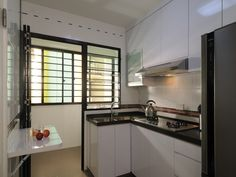 HDB>Hougang>Singapore Contemporary Kitchen Kitchen Design