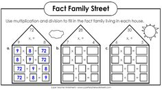 Worksheets to practice Bus Stop Method Division