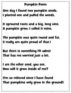 Shared reading, Poem and First grade on Pinterest