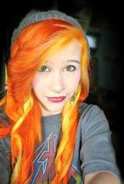 orange.emo.scene.hair