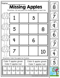 1-10 Number Puzzle! TONS of Back to School printables for