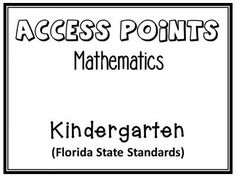 Kindergarten Common Core Assessment: K.CC.A.1, K.CC.A.2, K