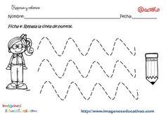 Fichas de grafomotricidad para imprimir, trazos rectos y