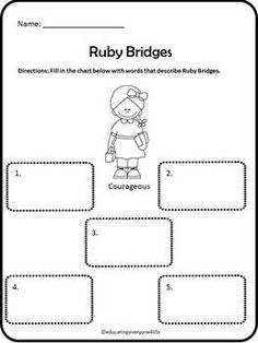 FREE Ruby Bridges Character Study! This Ruby Bridges file