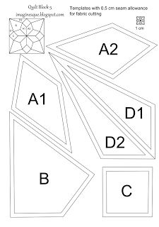 2 inch hexagon printable template/12 hexies per A4