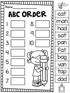 1000+ images about School: ABC Order on Pinterest