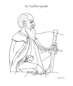 Apostle Paul Preaching Coloring Page Coloring Pages