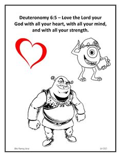 Abraham and Sarah activity page. Your child colors the