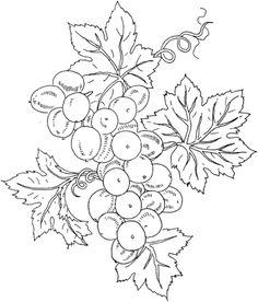 Printable grape vine border. Use the border in Microsoft