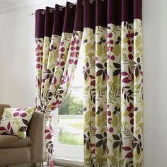 Plum Jakarta Curtain Collection Dunelm Mill Livingroom
