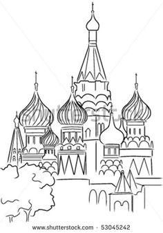 How to Draw the Kremlin, Moscow Kremlin, Saint Basil