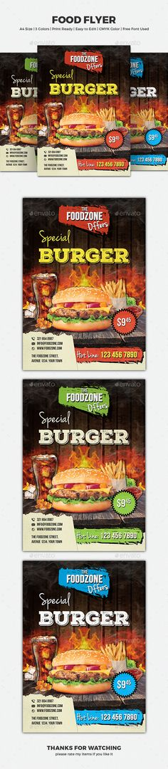 1000 Images About Food Amp Drink Flyer Template On