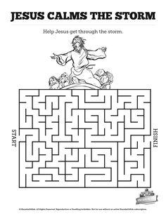 Jesus Calms The Storm Puzzle (Activity Sheet) Activity