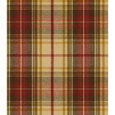 Ralph Lauren DUNCANSON PLAID STONE Fabric Ralph Lauren Fabrics