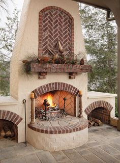 1000 images about Brick Fireplaces and Fire Pits on Pinterest  Bricks Brick fireplaces and