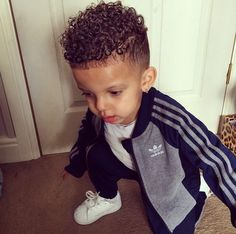 Biracial Boy Haircut Curly Hair Boy Curl Love Pinterest