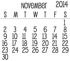 1000+ images about November 2014 Calendar on Pinterest