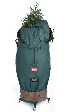 this upright artificial tree bag is the perfect cover to safely store your christmas tree in