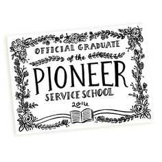 2015 Pioneer School Graduate Keepsake by