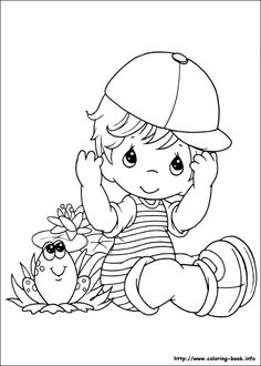 Fun Coloring Pages: loving couple precious moments