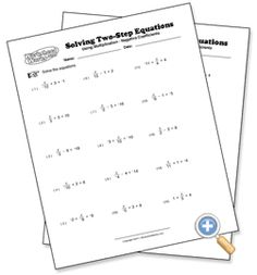Writing & Solving Two-Step Equations Project ~ Common Core