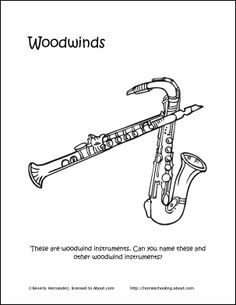 Worksheets, Woodwind instrument and Music worksheets on