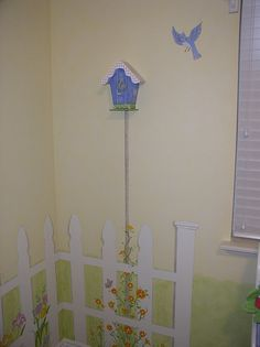 Picket Fence Wall Decor Decorating Butterfly Garden Themed