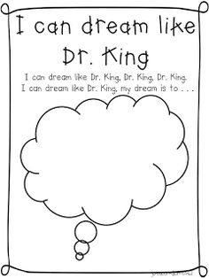 FREE worksheets, writing, and more to celebrate Dr. Martin