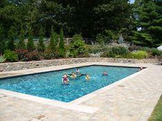 pools built slope swimming