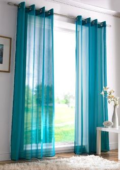Quinn Sheer Curtain Teal Pier 1 Imports Home Decorating