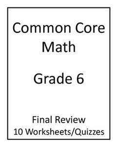 Sixth Grade Math Homework Sheets- Expressions and