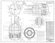 1893 Poster-sized Antique Engineering Drawing of an Eight