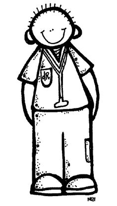 Free YW Girls Camp Clipart-- Colored and black and white