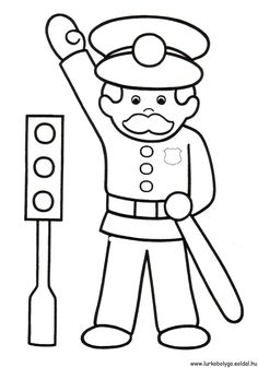 Police car transportation coloring pages for kids