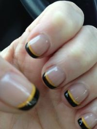 1000+ images about Steelers Nail Designs on Pinterest ...