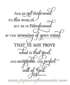 My word and scripture for 2014- Romans 12:2- Free