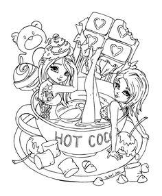 FREE Hannah Lynn Coloring Page HannahLynn.com Hot Cocoa