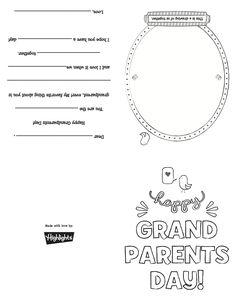 Keepsake Handprint Poem Grandparents Day Activity