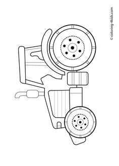 Tractors, Coloring and Coloring pages on Pinterest