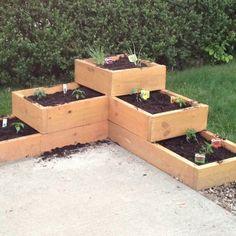 Garden Planter Boxes Outdoors Pinterest Gardens Planters
